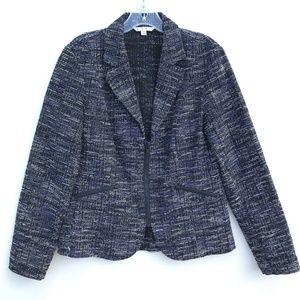 CAbi 723 Mingle Texture Blazer Jacket Zip Up #704